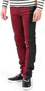 【Nudie Jeans】【ヌーディージーンズ】HIGH KAI/ヌーディージーンズ ハイカイ【2014SS/春夏】新モデル・スーパータイトフィット レッド×ブラック ストラププリントデニム Org.Blasck Stripe 39161-1290