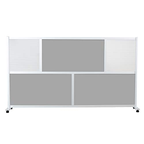 Find Discount SpaceMakers Modern Privacy Room Divider for Home or Office 100 w x 53 t (Gray, Half ...