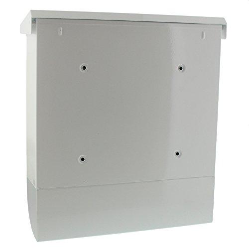 BURG-WÄCHTER, Briefkasten-Set mit Zeitungsbox A4 Einwurf-Format, Verzinkter Stahl, Set Vario W, Weiß - 2