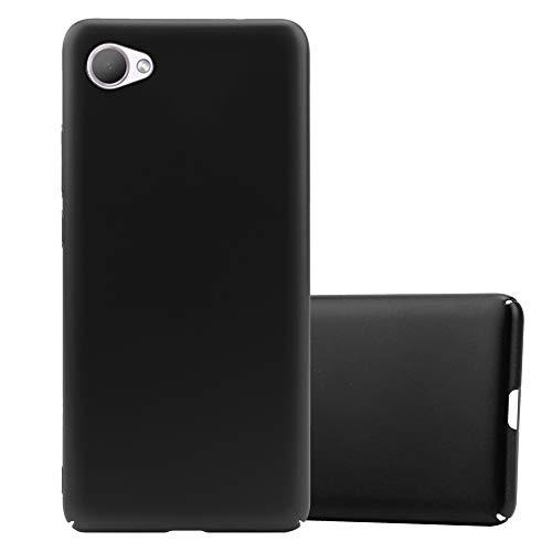 Cadorabo Hülle für HTC Desire 12 in Metall SCHWARZ - Hardcase Handyhülle aus Plastik gegen Kratzer & Stöße - Schutzhülle Bumper Ultra Slim Back Hülle Hard Cover