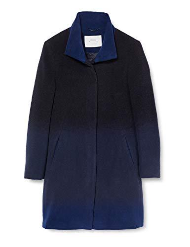 René Lezard Damen M021A5652 Mantel, Blau (Navy Blue 572), 38