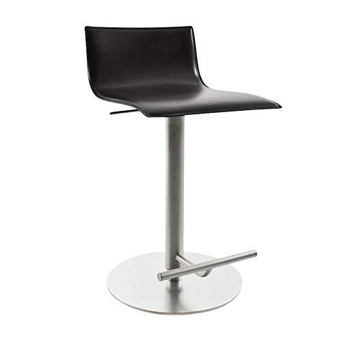 Dunne barkruk verstelbaar seating upholstered adjustable in height from 54 Donkerbruin leer