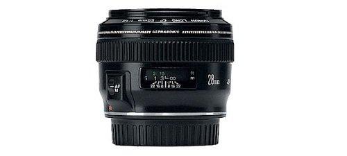 Canon EF 28mm f/1.8 USM Negro - Objetivo (10/9, 0,25 m, 2,8 cm, 65°, 46°, 75°)