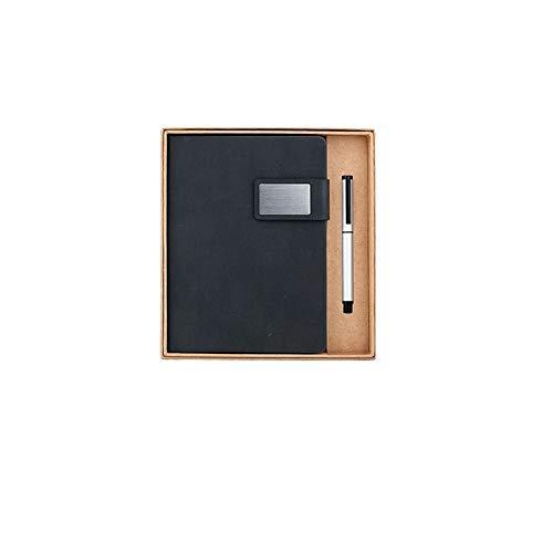Xyhcs Cuaderno, Cuaderno bellamente Lleno - Diario, Nota, Diario y Plan - Caja de Regalo de Dos Piezas / 120 Hojas (Color : Black)