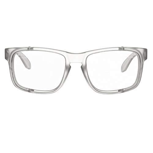 voltX 'CRYSTAL' Occhiali di sicurezza da lettura con ingrandimento e lenti intere (+1.0 diottrie, lente trasparente)