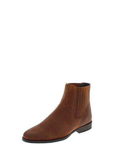 Fashion Boots FM1001 Dean Prim Whisky Lederstiefelette für Herren Braun Chelsea Boot, Groesse:45