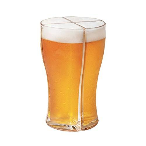Wyongtao 4 en 1 - Jarra de cerveza personalizada, jarra de cerveza de cristal, diseño de media pinta, ideal como regalo personalizado
