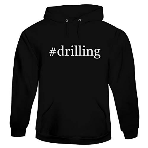 #drilling - Men's Hashtag Hoodie Sweatshirt, Black, XXX-Large