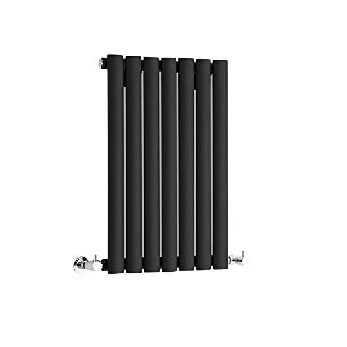 Hudson Reed Radiador Revive Horizontal con Calefacción de Diseño Moderno - Acabado Negro - Diseño de Columna - 635 x 415mm - 418W - Calefacción
