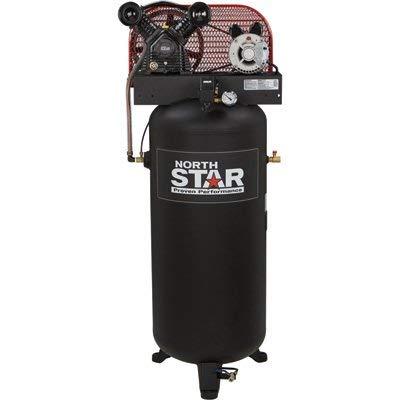 NorthStar Belt-Drive Electric Stationary Air Compressor - 3 HP, 60-Gallon Vertical Tank