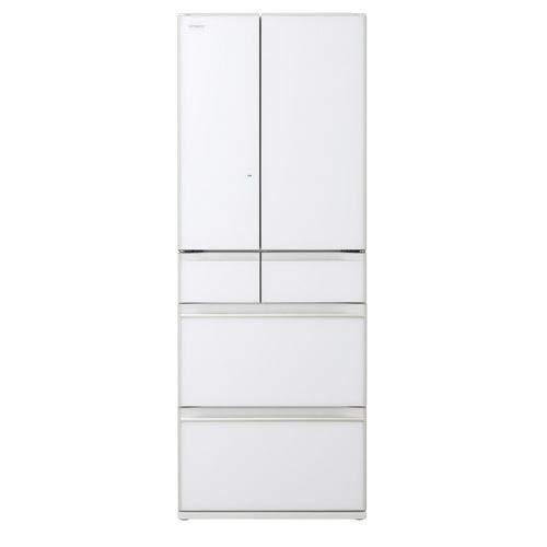日立 567L 6ドア冷蔵庫(クリスタルホワイト)HITACHI KWシリーズ R-KW57K-XW