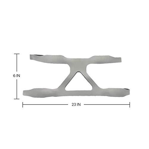 BALIBETOV cpap Zubehör - Universal Cpap Headgear Kopfband Strap Ersatz für Resmed Cpap und verschiedene Cpap Maske. Ultralight, Soft und atmungsaktiv Kopfband Maske (Grau)