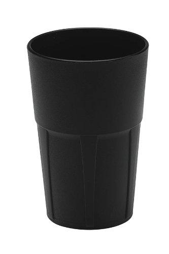 Mojito Design Box Verres à Cocktail, Plastique, Noir, 0.35 litres, 6 pièces