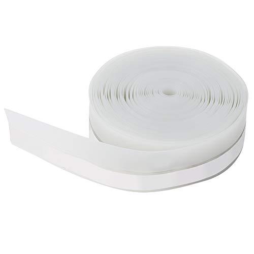 Omabeta 5M 25mm Tira de calafateo Cinta de Sellado autoadhesiva Puerta Ventana Aislamiento acústico Prevención de Polvo Tira de Sellado para baño Cocina Esquina de Pared de Inodoro(Semitransparente)