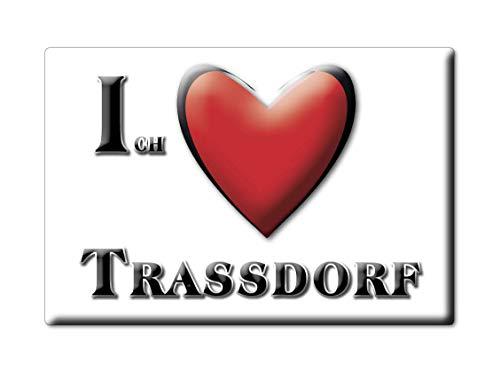 Enjoymagnets TRAßDORF (TH) Souvenir Deutschland THÜRINGEN Fridge Magnet KÜHLSCHRANK Magnet ICH Liebe I Love