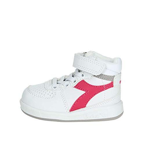 Diadora Playground H TD, Chaussures de Gymnastique Garçon Mixte Enfant, Rose (Rosa Brillante 45059), 22 EU