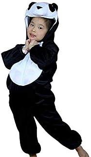 زي هالوين بقصة جمبسوت بتصميم باندا العملاق جالب الحظ (مقاس S) - لون ابيض واسود من جولف ديلز