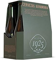 Alhambra Reserva 1925 Cerveza Dorada Lager – Pack de 6 Botellas x 33cl – 6,4% Volumen de Alcohol