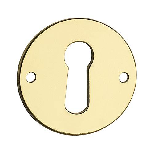 SECOTEC Schlüssel-Schild 25 mm | gold-färbig | Abdeckung Schlüsselloch | 1 Stück