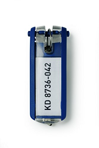 DURABLE Key Tags, Plastic, Dark Blue, 6-Pack (195707) Photo #4