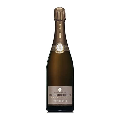 Vino Espumoso Brut Vintage de 75 cl - D.O. Champagne - Bodegas Louis Roederer (Pack de 1 botella)