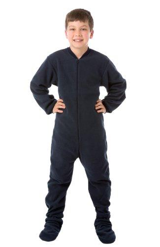 Big Feet Pyjama Co Junior de pijamas polar pijamas de patas S 7/8 Azul marino