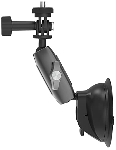 enSkate Soporte de Ventosa para GoPro Hero 10 9 8 7 6 5,Osmo Action,Insta360 One R,Camaras de Accion Teléfono Soporte Coche para Salpicadero,Ángulo Ajustable de 360°,Fuerte Succión,Plegable