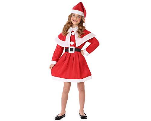 Atosa 69209 Déguisement de Mère Noël pour filles, taille enfant de 10 à 12 ans, Rouge