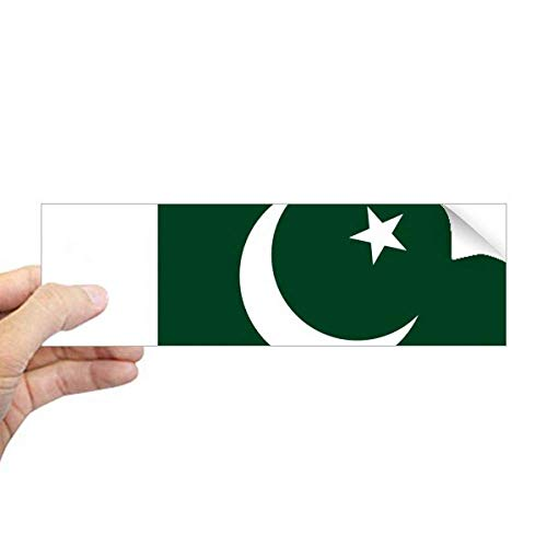 DIYthinker Pakistan Nationale Vlag Azië Land Rechthoek Bumper Sticker Notebook Window Decal