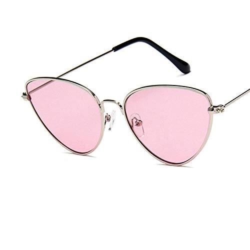 chuanglanja Gafas De Sol Vogue Mujer Gafas De Sol De Ojo De Gato Para Mujer Gafas De Sol De Espejo Con Revestimiento De Metal Retro Gafas UV400 Gafas-02