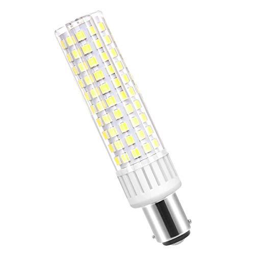 Ymm Bombilla LED B15D brillo ultra alto de 8.5W 1105 lúmenes, AC 90-265V ángulo de 360 grados,CRI> 90Ra,blanco frío 6000k, repuesto para bombillas halógenas de 100W,regulable(1 paquete)
