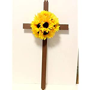 Sunflower Cemetery Flowers, Memorial Cross