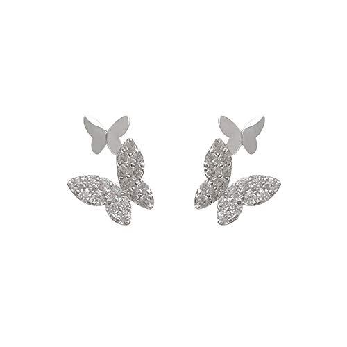 S925 Pendientes de Plata Pendientes de Mariposa de circonita para Mujer pequeños 2020 nuevos Pendientes de joyería al por Mayor