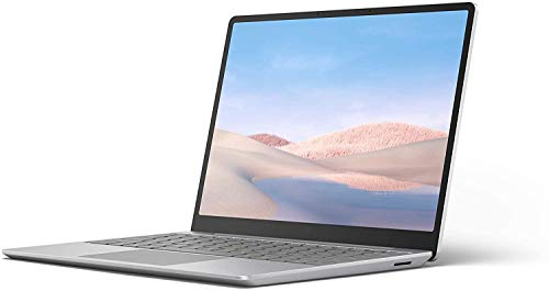 "Microsoft Surface Laptop Go Ultra-Thin 12.4"" Touchscreen Laptop (Platinum) - Intel 10th Gen Quad Core i5, 4GB RAM, 64GB eMMC, Windows 10 Home in S Mode, 2020 Edition"