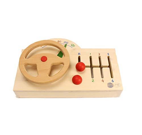 Spielzeug Lenkrad aus Holz mit Gangschaltung