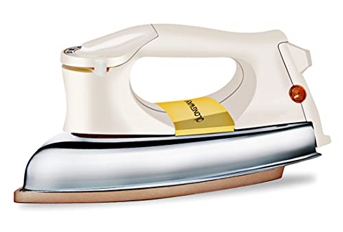 Longway Plancha Heavy Weight Automatic Dry Iron with Metal Cover (Golden,1000 w)
