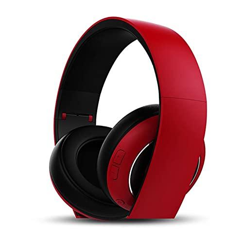 SFF Auricular auricular inalámbrico Bluetooth teléfono móvil ordenador bajo universal para esports juego de música con micrófono negro Gaming Headset (color: rojo)
