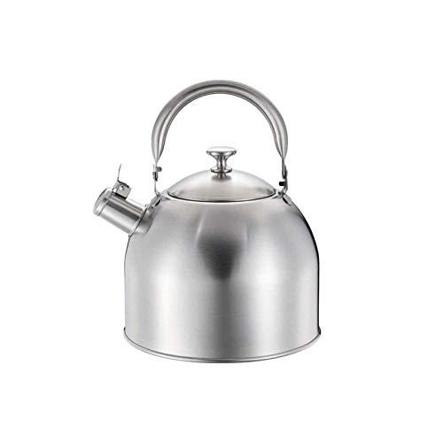 Hervidor de cocina de gas de acampar Hervinas de gas de silbidos modernos Calentador de calefacción Hervidor de calefacción, acero inoxidable 304, asa anti-escaldada, cocinas de inducción, estufa de g