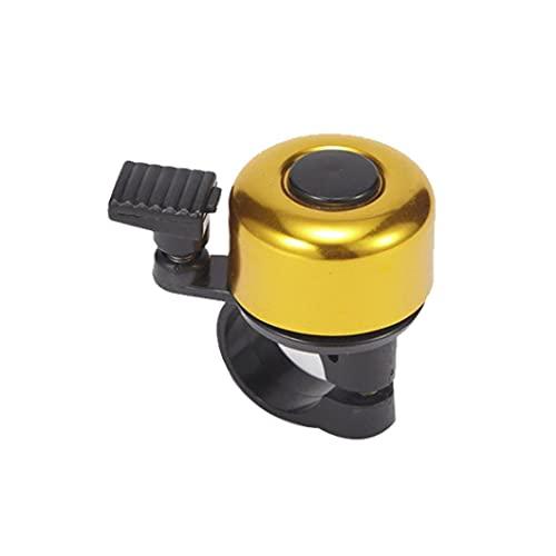 Bell de la bicicleta de montaña de la bicicleta de sonido de Bell del manillar del anillo de Hornos Ciclismo Montar seguridad para herramientas resistente de color amarillo accesorios de bicicletas