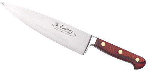 K SABATIER - Cuisine 21 Cm Gamme Auvergne - Acier Inoxydable - Manche Bois - 100% Forge - Entièrement Fabrique en France
