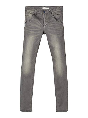 NAME IT Herren X-Slim Fit Jeans Super Stretch 128Dark Grey Denim