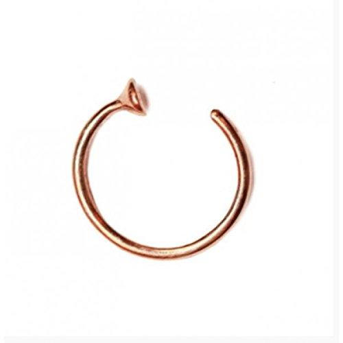 Zilver Rose Goud Kleine Dunne Chirurgisch Staal Open Neus Ring Neus Hoop Piercing Stud 3 Maten UK 10mm Rosegoud