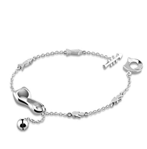 Cute Cat Anklet for Women Girls Friend Foot Leg Bracelet 23 cm Barefoot Jewellery Gift