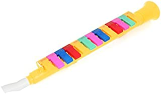 eDealMax plastica dello strumento di musica armonica a bocca 13 tasti Melodica Nota giallo per gli studenti