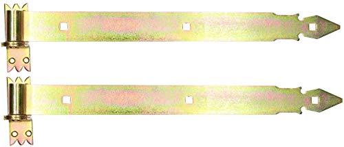 KOTARBAU® Ladenband 500 mm 2 St. mit Kloben Torband Türband Torscharnier Scharnier Baubeschlag Torbeschlag Türbeschlag Rostfrei Torzubehör Verzinkt Gelb