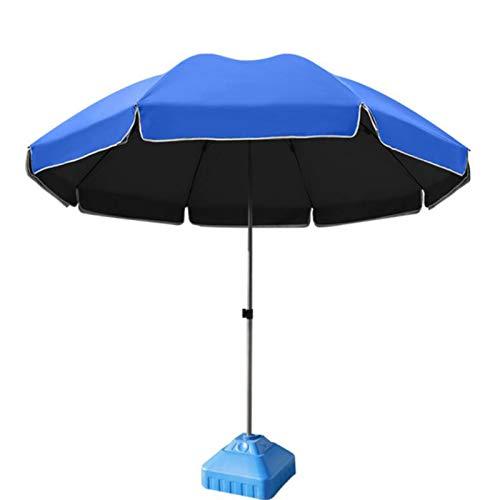 outdoor product Grand Parapluie de Terrasse de Marché Extérieur,Parapluie de Table de Jardin Rond Plage Parasol ,Protection UV UPF50 +,Parapluie de Marché avec Base ,pour Pelouse/Piscine/Terrasse