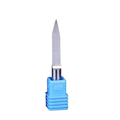 XBF-TOOL, de Fondo Plano 1pc 4 mm Vástago de Sharp CNC máquina de Grabado de la Forma cónica de la Herramienta de Sharp Router bit Repujado Talla Fresa (tamaño : 4x0.1x90deg)