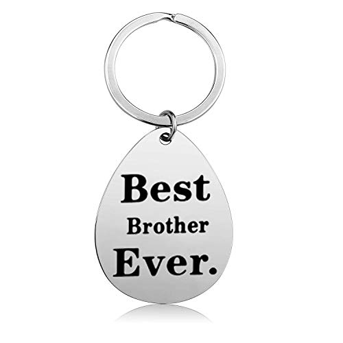 Gifts for Brother from Sister Brother, Best Brother Ever Keychain Unique New Big Brother Gifts for Boys Men Brother Birthday Christmas Gifts