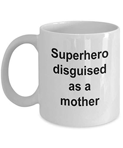 Taza Best Mom - Superhroe disfrazado de madre, regalo del da de la madre, taza Best Mom Ever