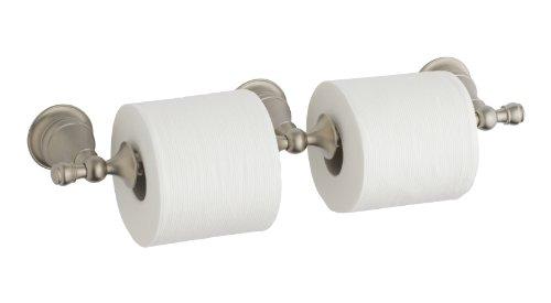 Kohler K-16152-BN Revival Double Toilet Tissue Holder, Vibrant Brushed Nickel